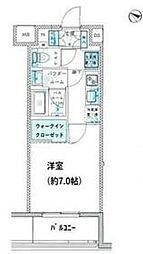 都営大江戸線 月島駅 徒歩3分の賃貸マンション 3階1Kの間取り
