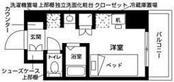 JR総武線 西船橋駅 徒歩3分の賃貸マンション 2階ワンルームの間取り