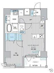 都営浅草線 東日本橋駅 徒歩3分の賃貸マンション 8階1LDKの間取り