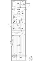 東京メトロ丸ノ内線 茗荷谷駅 徒歩5分の賃貸アパート 3階1Kの間取り
