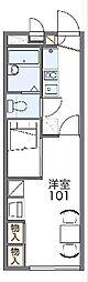 名古屋市営桜通線 相生山駅 徒歩13分の賃貸アパート 2階1Kの間取り