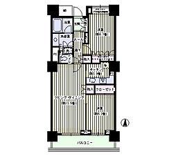 東京メトロ東西線 門前仲町駅 徒歩9分の賃貸マンション 32階2LDKの間取り