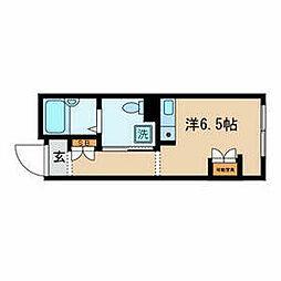 ES−V 4階ワンルームの間取り