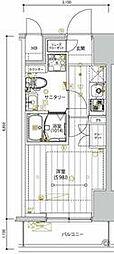 京急本線 新馬場駅 徒歩5分の賃貸マンション 8階1Kの間取り