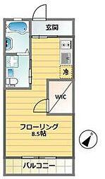 BASE130 2階ワンルームの間取り