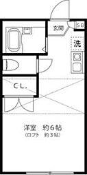 カーサ横浜青葉 1階1Kの間取り