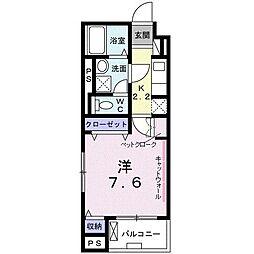 東京メトロ東西線 西葛西駅 徒歩13分の賃貸マンション 2階1Kの間取り