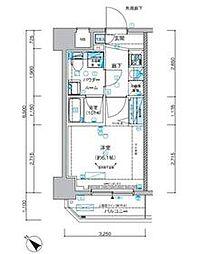 メインステージ立川II 3階1Kの間取り
