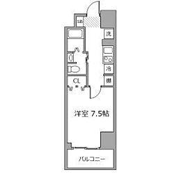 近鉄名古屋線 近鉄四日市駅 徒歩8分の賃貸マンション 2階1Kの間取り