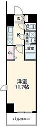 JR東北本線 宇都宮駅 徒歩5分の賃貸マンション 9階1Kの間取り