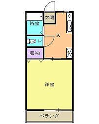 JR東北本線 宇都宮駅 バス25分 作新大学下車 徒歩2分の賃貸アパート 1階1Kの間取り