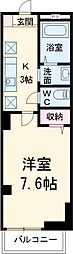 東急田園都市線 溝の口駅 徒歩10分の賃貸マンション 2階1Kの間取り