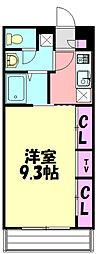 JR成田線 成田駅 徒歩8分の賃貸アパート 2階1Kの間取り