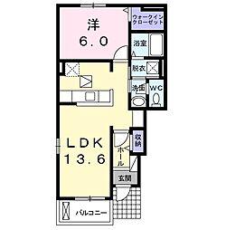 JR成田線 成田駅 バス25分 宮下下車 徒歩3分の賃貸アパート 1階1LDKの間取り
