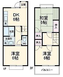 メゾン飯島 1階3DKの間取り