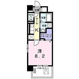 つくばエクスプレス 三郷中央駅 徒歩6分の賃貸マンション 2階1Kの間取り