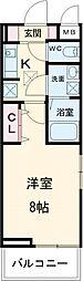 京急本線 六郷土手駅 徒歩6分の賃貸アパート 1階1Kの間取り