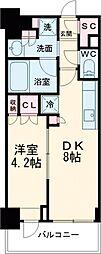 東京メトロ南北線 白金高輪駅 徒歩5分の賃貸マンション 6階1DKの間取り