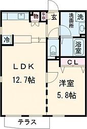 東急池上線 荏原中延駅 徒歩3分の賃貸マンション 1階1LDKの間取り