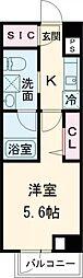 AXASレジデンス目黒東 3階1Kの間取り