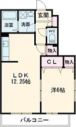 東京メトロ東西線 葛西駅 徒歩16分の賃貸アパート 2階1LDKの間取り