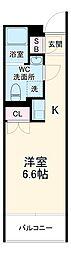 東急東横線 新丸子駅 徒歩3分の賃貸マンション 3階ワンルームの間取り