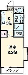 名古屋市営東山線 本郷駅 徒歩5分の賃貸マンション 3階1Kの間取り