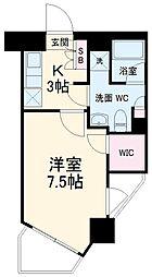 パティーナウィリア武蔵小杉 2階1Kの間取り