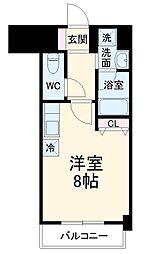 名古屋市営東山線 本郷駅 徒歩3分の賃貸マンション 2階ワンルームの間取り