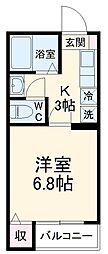 JR京葉線 新浦安駅 徒歩18分の賃貸アパート 3階1Kの間取り