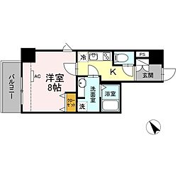 JR東海道本線 静岡駅 徒歩10分の賃貸マンション 7階1Kの間取り