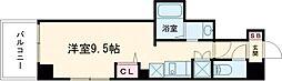 東京メトロ日比谷線 三ノ輪駅 徒歩5分の賃貸マンション 6階ワンルームの間取り