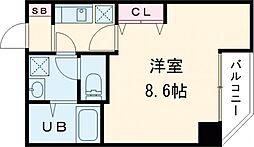 東京メトロ日比谷線 入谷駅 徒歩10分の賃貸マンション 5階1Kの間取り