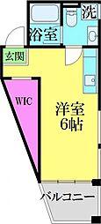 JR常磐線 亀有駅 徒歩10分の賃貸マンション 5階ワンルームの間取り