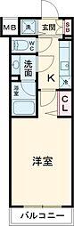 東武東上線 上板橋駅 徒歩9分の賃貸マンション 2階1Kの間取り