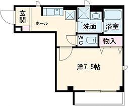 西武池袋線 椎名町駅 徒歩5分の賃貸マンション 1階1Kの間取り