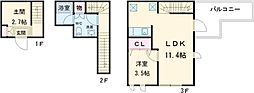 ARUITTE NISHIOGIKUBO 1階1LDKの間取り