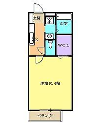 JR東海道本線 清水駅 バス18分 鳥坂下車 徒歩7分の賃貸アパート 2階1Kの間取り