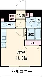 JR南武線 谷保駅 徒歩6分の賃貸マンション 4階ワンルームの間取り
