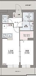 JR東海道本線 草薙駅 徒歩8分の賃貸マンション 1階1LDKの間取り