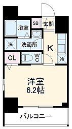 エステムコート名古屋泉プラチナムゲート 5階1Kの間取り