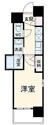 エステムコート名古屋泉プラチナムゲート 4階1Kの間取り