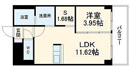 あさひグランレジデンシア高崎I 3階1SLDKの間取り