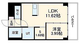 あさひグランレジデンシア高崎I 4階1SLDKの間取り