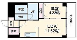 あさひグランレジデンシア高崎I 5階1LDKの間取り