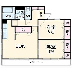 A-LIFE 2階2LDKの間取り