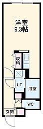 名古屋市営鶴舞線 浄心駅 徒歩4分の賃貸マンション 5階ワンルームの間取り