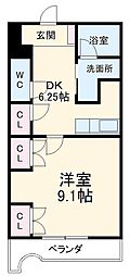 JR常磐線 赤塚駅 バス10分 自由ヶ丘下車 徒歩2分の賃貸マンション 1階1DKの間取り