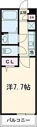 小田急小田原線 喜多見駅 徒歩9分の賃貸マンション 3階1Kの間取り