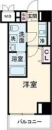 JR中央線 立川駅 徒歩10分の賃貸マンション 2階1Kの間取り